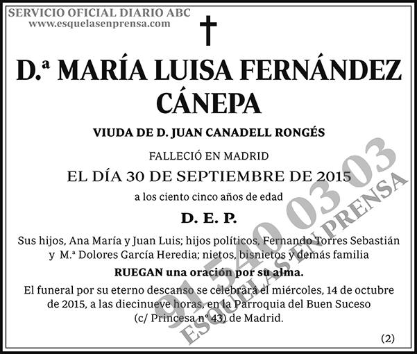 María Luisa Fernández Cánepa